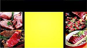 Cartões de Visita - Açougue 49 - 48x88mm Couchê - 250g - 4x0 Verniz Total Frente