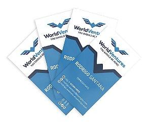 Cartão de Visita - WorldVentures | DreamTrips - Modelo 5 - 1.000 unidades