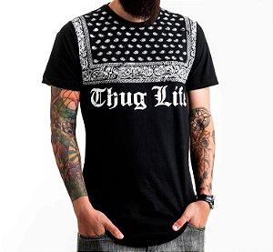 Long Thug Life Tee Black