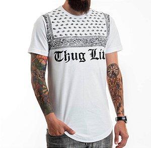 Long Thug Life Tee White