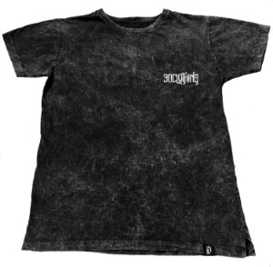 Camiseta Marmorizada 3D Clothing Preta
