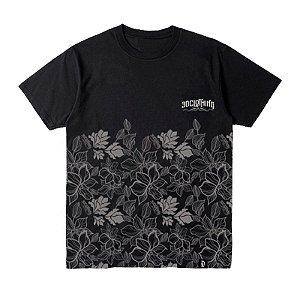 Camiseta Floral Preta