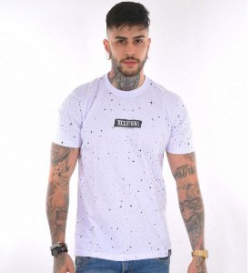 Camiseta galaxy constelação splash branca - 3D Clothing