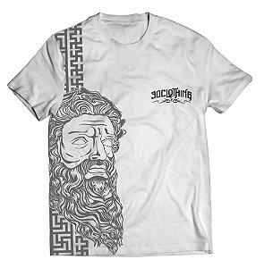 Camiseta estampa Zeus Mitologia  - Branca - 3D Clothing