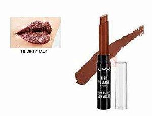 Batom DirtyTalk  High Voltage Lipstick - NYX