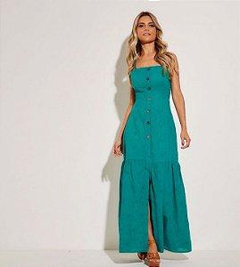 da4ba0af78 Vestido longo coqueiros verde - Bbrasilstilus    loja de roupas ...