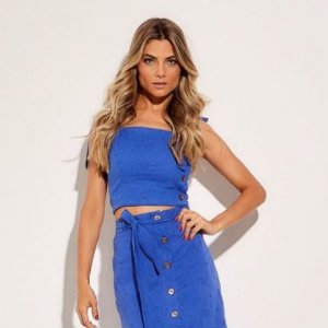 Cropped laise azul