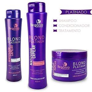 Kit Capilar Matizador Blond Platinum Begonia