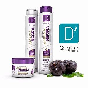Kit Capilar Ameixa Negra Doura Hair ( Shampoo , Condicionador e Máscara)