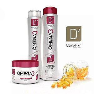 Kit Capilar OMEGA 3 Doura Hair ( Shampoo , Condicionador e Máscara)