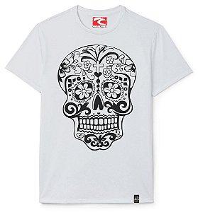 Camiseta Santo Swell White Artistc Skull Estampada Manga Curta 4 Cores