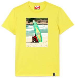 Camiseta Santo Swell Thinking surf Estampada Manga Curta 3 Cores