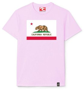 Camiseta Santo Swell Republic of California Estampada Manga Curta 4 Cores