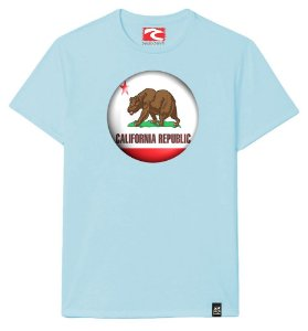 Camiseta Santo Swell California Bear in the Forest Estampada Manga Curta 7 Cores