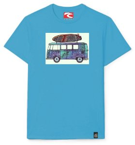 Camiseta Santo Swell Beautiful Van in The Surf Estampada Manga Curta 4 Cores