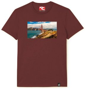 Camiseta Santo Swell Bridge Over Open Sea Estampada Manga Curta 5 Cores