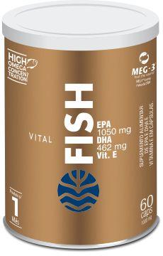 Vital Fish - Óleo de Peixe em Cápsulas - 60 cáps de 1.000mg