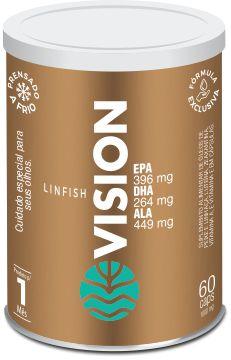 Vital LinFish Vision - Óleos de peixe e linhaça, Luteína, Zeaxantina, Vitamina A e Vitamina E - 60 cáps de 1.000mg