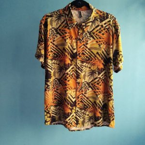 Camisa Masculina Viscose Estampa Floral