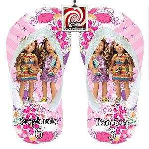 American Girl Chinelo Sandália Personalizado Flores