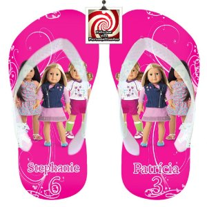 American Girl Chinelo Sandália Personalizado Amigas