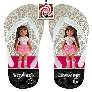 American Girl Chinelo Sandália Personalizado Ashlyn