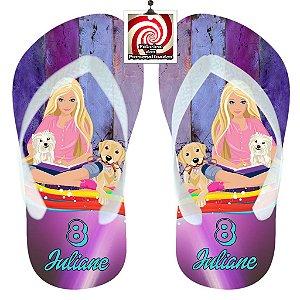 Barbie Cachorrinhos Chinelo Sandália Personalizado