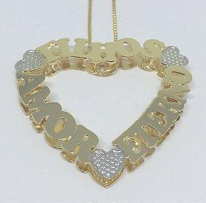 Mandala Personalizada - Formato coração com Nomes.