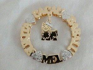 Mandala 3 cm - personalizada com a Raça do seu Pet.
