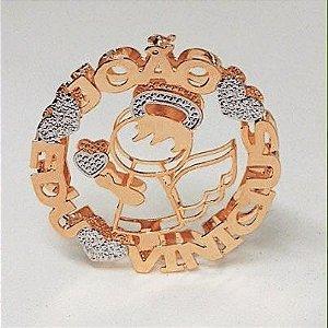 Mandala 3 cm - Personalizada Anjinho.