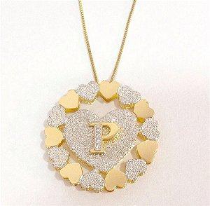 Mandala 3 cm - Diamantada com Letra e corações.