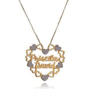 Mandala Coração com Nome em letra cursiva parte interna.