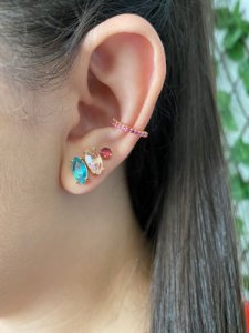 Piercing Fake Safira Rosa