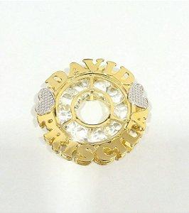 Mandala 3cm - personalizada com pedras na parte interna.