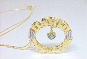 Mandala 3cm - personalizada com pingente de coração.
