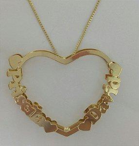 Mandala 3cm - coração personalizada.