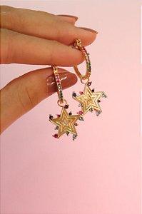 Brinco Argola Star
