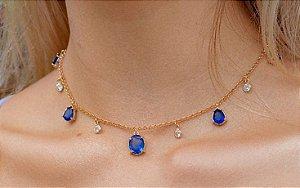 Colar gotas azuis coleção Classic Blue