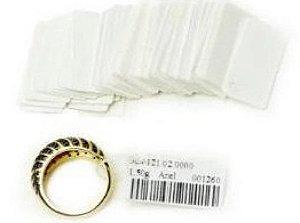 Cartela de papel com 500 unidades
