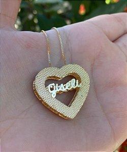 Colar Coração com Nome