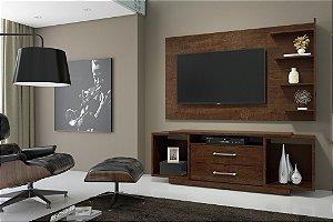 Estante para TV Rack bahamas / Painel chicago Noce Rv Móveis