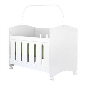 Berço mini cama Domino Plus Branco Planet Baby