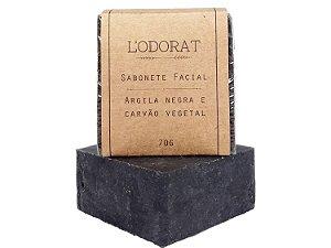 Sabonete Vegetal em Barra Facial Argila Negra e Carvão Vegetal 70 G