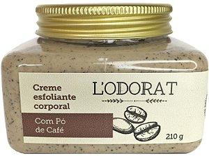 Creme esfoliante corporal com pó de café 210 g