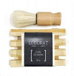 Kit para Presente - Barbear - Cubo de Barba + Pincel + Saboneteira