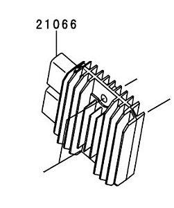 REGULADOR VOLTAGEM NINJA ZX-6R / NINJA ZX-10R - 21066-0731