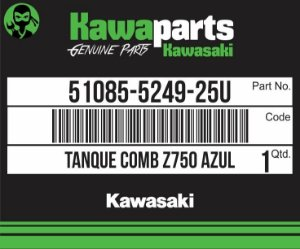 TANQUE COMBUSTIVEL AZUL Z750 2009 - 51085-5249-25U