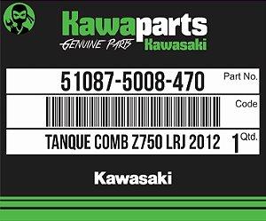 TANQUE COMBUSTÍVEL LARANJA Z750 2012 - 51087-5008-470
