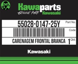 CARENAGEM FRONTAL BRANCA Z750 - 55028-0147-25Y