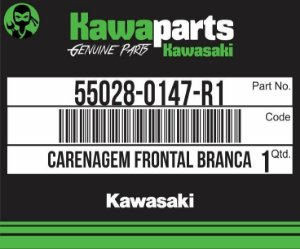 CARENAGEM FRONTAL BRANCA Z750 - 55028-0147-R1